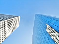Two skyscrapers Stock Photos