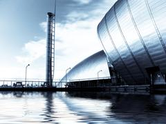 glasgow science center on pacific quay - stock photo