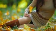 Autumn Female Beauty Stock Footage