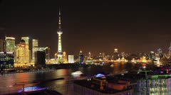 "4K: Shanghai night, China (timelapse video).>>>Please Search: ""ShanghaiSkyline"" Stock Footage"