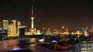 Stock Video Footage of Shanghai night, China (4K timelapse video )