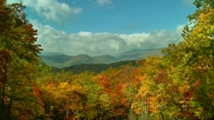 Stock Video Footage of beautiful autumn mountain scenery tennessee