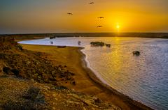 Punta Gallinas Sunrise Stock Photos