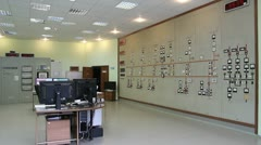 Control room of the Kolyma hydroelectric Stock Footage
