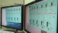Stock Video Footage of Management program Kolyma hydroelectric generating sets