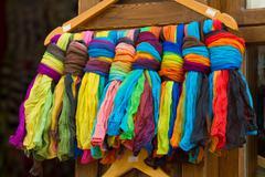 Colorful textile Stock Photos