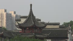 Traditional and modern in Nanjing, China Stock Footage