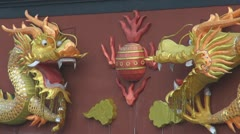 Chinese dragon by day, Nanjing, China Stock Footage