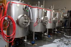 Modern interieur of a brewery Stock Photos