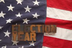 American flag with election year words.jpg - stock photo