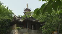 Building of Jiming Temple, Nanjing, China Stock Footage