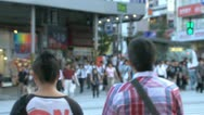 Stock Video Footage of Blur people at busy pedestrian in Shinjuku, Tokyo, Japan