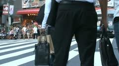 Busy pedestrian in Shinjuku, Tokyo, Japan Stock Footage