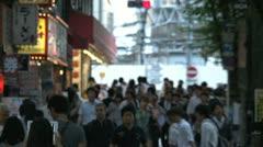 Crowded street in Shinjuku, Tokyo, Japan Stock Footage