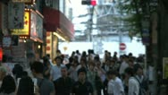 Stock Video Footage of Crowded street in Shinjuku, Tokyo, Japan