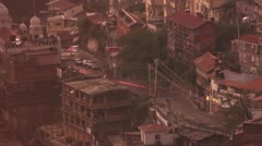 Evening indian traffic Stock Footage