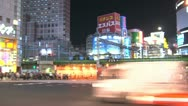 Stock Video Footage of Shinjuku traffic timelapse pan