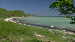 Beautiful Beach on Rügen Island - Baltic Sea, Northern Germany Stock Footage