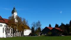 Pilgrimage church, wieskirche Stock Footage