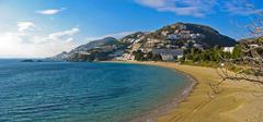 canyelles beach panorama - stock photo