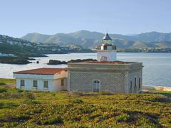 Lighthouse in costa brava - stock photo