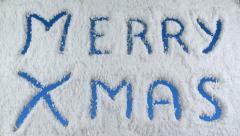 Snow merry xmas Stock Footage