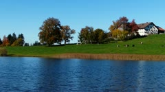 Lake in bavaria Stock Footage