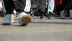 Street footsteps - stock footage