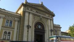 Train station in Serbia, Belgrade Stock Footage