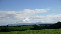 Tme Lapse:  Hawera 01 (Mount Taranaki As Seen from Farmland) Stock Footage