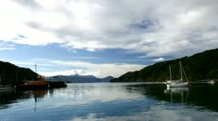Tme Lapse:  Picton 05 (View from Dock) Stock Footage