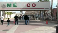 Mexico / United States Border Stock Footage