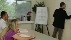 College instructor working with his students Stock Footage