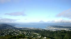 Tme Lapse:   (View of City from Wrights Hill)Wellington 09 Stock Footage
