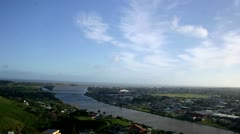 Tme Lapse:  Whanganui 02 (View of City & Whanganui River from Durie Tower) Stock Footage