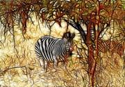 Artistic impression zebra Stock Illustration