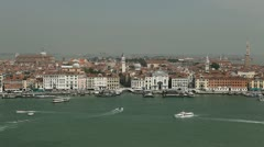 Venice, Italy Aerial View of Grand Canal, San Marco Tower, Square, time lapse Stock Footage