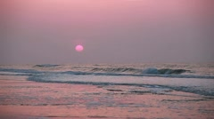 Pretty in pink sunrise Stock Footage