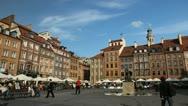Mermaid Statue, Market Place, Warsaw Old Town, Stare Miasto, Poland, Europe Stock Footage