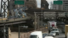 New York City Queensboro Bridge Traffic Timelapse 4 Stock Footage