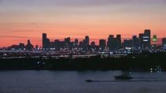 Miami Night Time - stock footage
