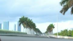 Miami Drive Mcarthur Causeway 395 Stock Footage