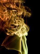 colorful smoke detail - stock photo