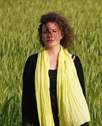 woman in barley field - stock photo