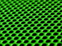 green grid - stock photo