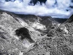 dramatic mountain landscape - stock photo