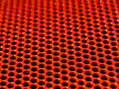 red grid - stock photo