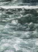 stormy river - stock photo