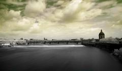 Toulouse panoramic infrared cityscape Stock Photos