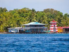 Bocas del toro coastline Stock Photos